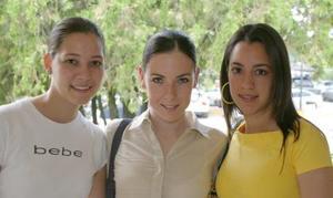 <u><b> 30 de Junio </u> </b><p>  Susana Garza, Vero Zertuche y Daniela Natera.