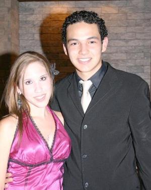 Berenice Cepeda y Daniel Ceniceros, en pasado festejo social.