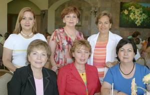 Laurette S. de Aguilera, Bonnie S. de Carrillo, Ángles de García, Leticia de Villarreal, Lucía de Nohra y Lupita de Gutiérrez.