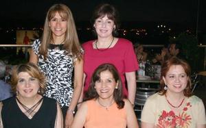Marivi Murra, Martha Leticia Díaz Pérez, Gloria López Negrete, Cecy Pérez y Malena Ritchie.
