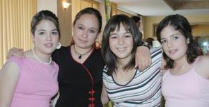 Gaby Hamdan, María Pámanes, Marcela y Cristina Villarreal.