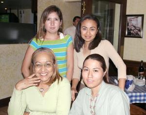 Brenda Yadira Méndez, Janeth Sánchez, María Luisa  Rodríguez y Magda García