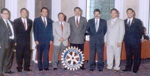 Nueva mesa directiva del Club Rotario Torreón Laguna., José de Jesús Hernández, Mario Álvarez, Ignacio Hernández, Eduardo Reyes, José Luis Campos, Ernesto Negrete, José Ortega y Héctor Rivas.