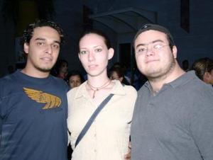 Ale Martínez, Sofía González y Christian Prieto