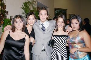 Daniela Gutiérrez, Sofía Fernández, Daniel Rivero, Misha Olmedo y Rocío Villarreal.