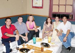 Rodolfo Arce Recalde, Ricardo Kalisch Alonso, Gabriela Mireles Elizalde, Margarita González López, Alejandra Hernández y Baldo Reza.