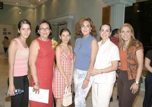 <i><u> 11 de julio</i></u><p>  Lorena Marcos Wong, Martha Amelia Wong, Nancy Télle, María Luisa Corcuera, Yeye Romo y Vicky Lozano