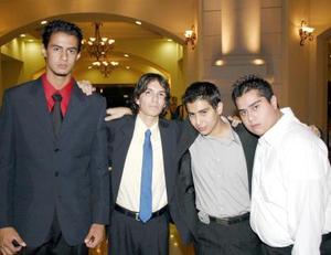 Luis Gutiérrez y Joshua Aguirre, Javier Ramírez y Christian Ramírez en pasado festejo