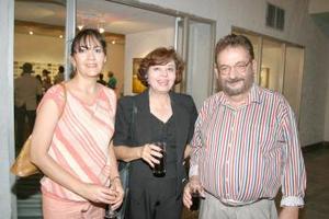 Cristina Sánchez, Carola Sánchez y Gerardo Moscoso