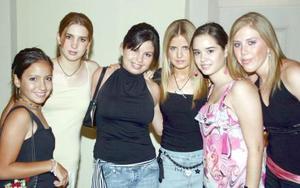 Marines, Ana Sofía, Paola, Ana, Melisa y Abi.