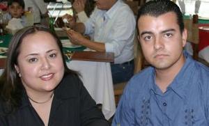 Gisela Campos y Carlos Romo.