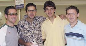 Diego Fernández, Carlos Yacamán, Braulio Rodríguez y Rodrigo Murra viajaron a Cancún.