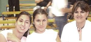 Sofía Rodríguez, Belinda Rodríguez y Dure Carreón.