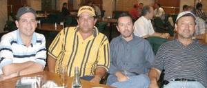 <i><u> 16 de julio</i></u><p>  Sergio Torres, Mauricio Treviño, Manuel de la Peña y Gustavo Guerrero.