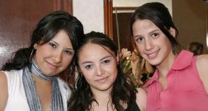 Fernanda Varsas, Mónica García y andrea Madero.