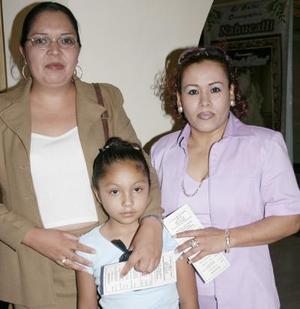 Lucy Pérez, Ale Rodríguez y Fide Alemán.
