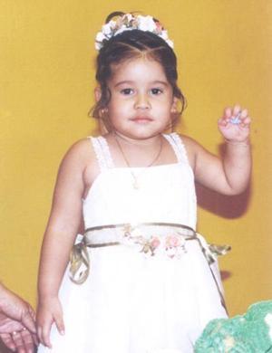 La pequeña  Andrea de la O. Gallegos cumplió tres años de vida en días pasados.