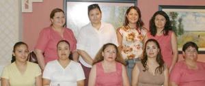 Elizabeth Díaz, Silvia Delgado, Irma García, María del Carmen, Amparo Sánchez, MArtha Delgado, Guadalupe Esquivel, Diana Barraza y María Elena Morales.