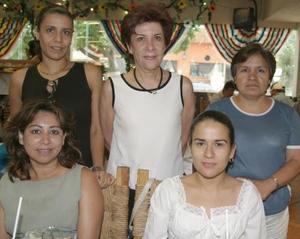 Guadalupe Soriano, Olga Ruiz, Ana Cristina García, Eva Maisterrena y Marhta de Martínez.