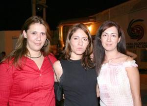 Adriana Martínez, Sonia Bernal y Paty Prado
