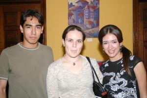 José Valdez, Isabel Román y Sonia Sanz