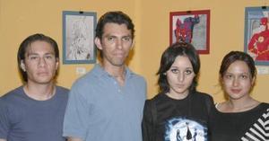 Miguel Orejel, José Manuel Morado, Beatriz Galván, Estela García