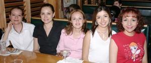 Érika Castillo, Lucy Cabada, Rosy Gutérrez, Alma Aguirre y Dulce Romo.