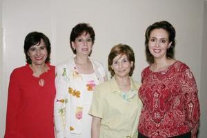 Marcela M. de Carrete, Nora Hernández, Martha Irene de Dávila y Nora de Muller.