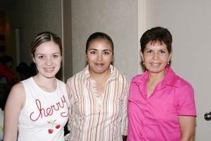 Norma de González, Irene Romero y Elizabeth de la Rosa