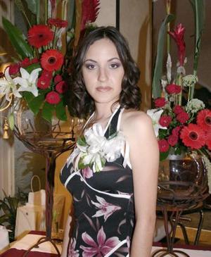 Alicia Rodríguez ortega, captada en su despedida de soltera