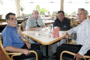 Joel Lleverino, Pablo Vizcarra, Eugenio Natera y Manuel Villa
