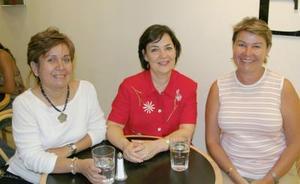 Tere Wong Sánchez, Elsa Lozano de Díaz y Maru V. de Zavala.