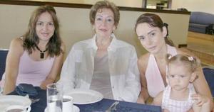 María Luisa de Orduña, Teresa de Quintero, Liliana Quintero de Gilio y Ana Paula Gilio.