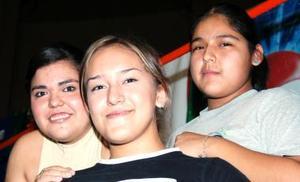 Nadia Díaz, Elsy Rubio y Karina Murillo.