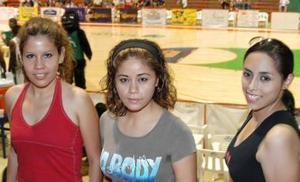 Lilia Hurtado, Lulú Nájera y Fabiola Zamora.