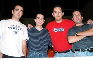 Rafael Serna, Armando López, Rogelio Cordova y Edgar Briseño.
