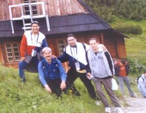 Gerardo Ramos, Juan Carlos Luján, José Manuel Ramírez, en su más reciente visita a Polonia.