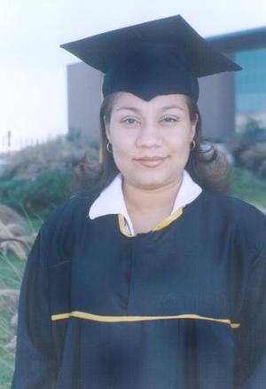 María Reyna Duarte Rangel, captada el día de su graduación.