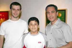 Pablo Fiore, David amador y Alfonso Guevara.