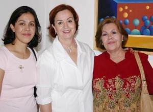 Susana de Amador, Coyo Trejo y Soco Guevara.