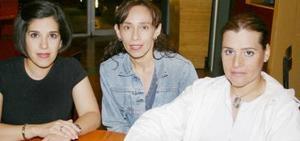 Ana Rojas, Adriana Pedroza y Élida Rentería.