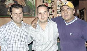 Luis Medrano, Ismael Cepeda y José Espinoza.