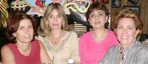 Aída Villarreal de sambucci, María Matilde García de Campa, Irma Rodríguez de Borbolla y Bertha Alicia Salazar de Ortiz.