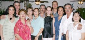 <u><i> 01 de Agosto </u></i><p>  Víctor Manuel Díaz  en compañía de las familias Díaz Arellano, Towns Díaz, Helguera Arellano, Arellano Salum y Helguera Aguiñeda.