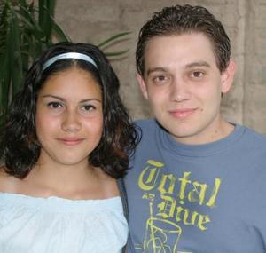 Mariel Huitrado y Héctor Garza.