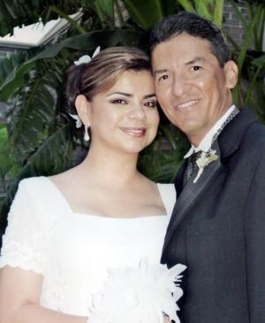 Sirta. Marcela Bollaín y Goytia Villarreal el día de su enlace nupcial cone l Sr. Román Cueto.