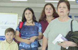 <u><i> 03 de Agosto </u></i><p>   Elba Barragán y Andrea Martínez, viajaron con destino a Puebla, las despidieron Sonia Mota y Antonio Martínez.
