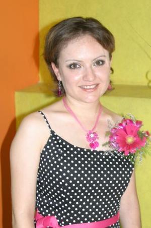 Nitzia Yamina Escobedo Mata, captada en su despedida de soltera.