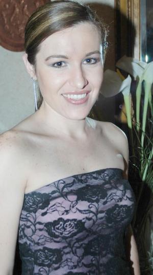 Motserrat casán Sandoval fue despedida de su soltería, con motivo de su próxima boda.