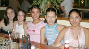 <u><i> 06 de Agosto </u></i><p>  Ana Sofía Meza, Michaelle López, Estefanía Apolinar, Bárbara Mijares e Ibera E. Rendón.